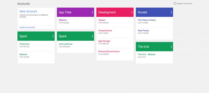 Google Tag Manager – Bienvenido Material Design